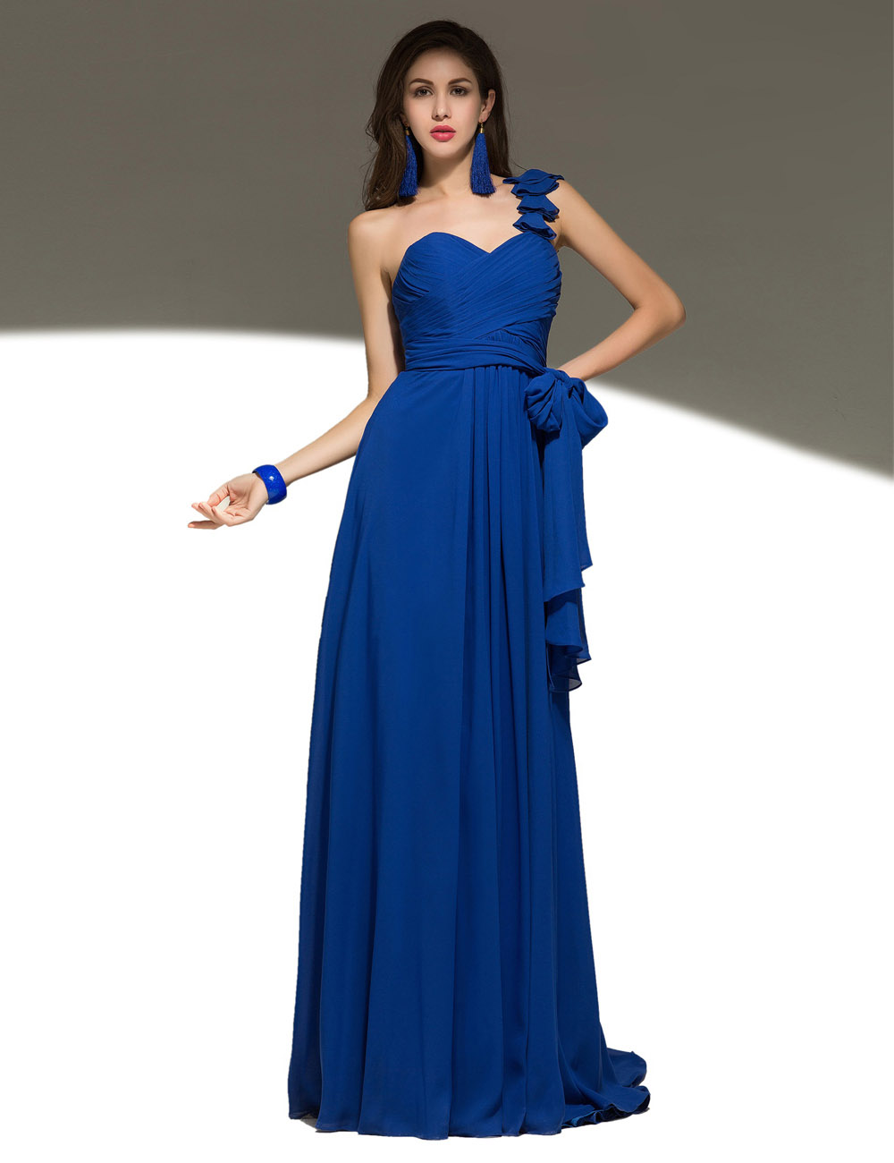 A-line Spaghetti Straps Asymmetrical Tulle Evening Dress