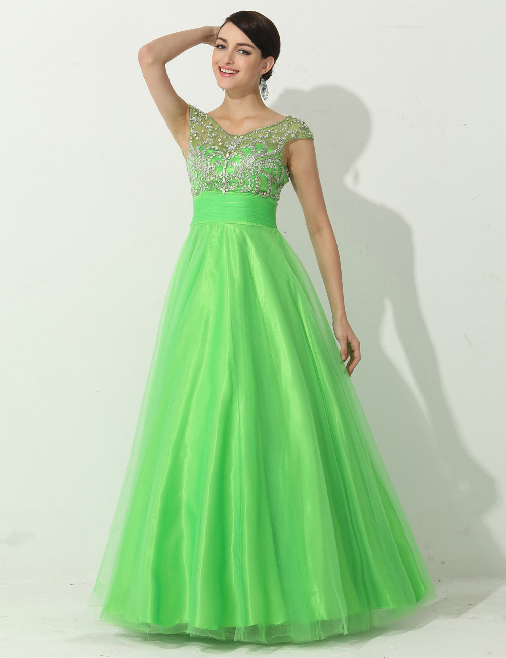 Sheath/Column One Shoulder Floor-length Sequins Prom Dress