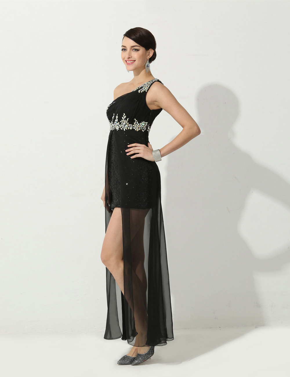 Trumpet/Mermaid Sheath/Column Sweetheart Floor-length Chiffon Evening Dress