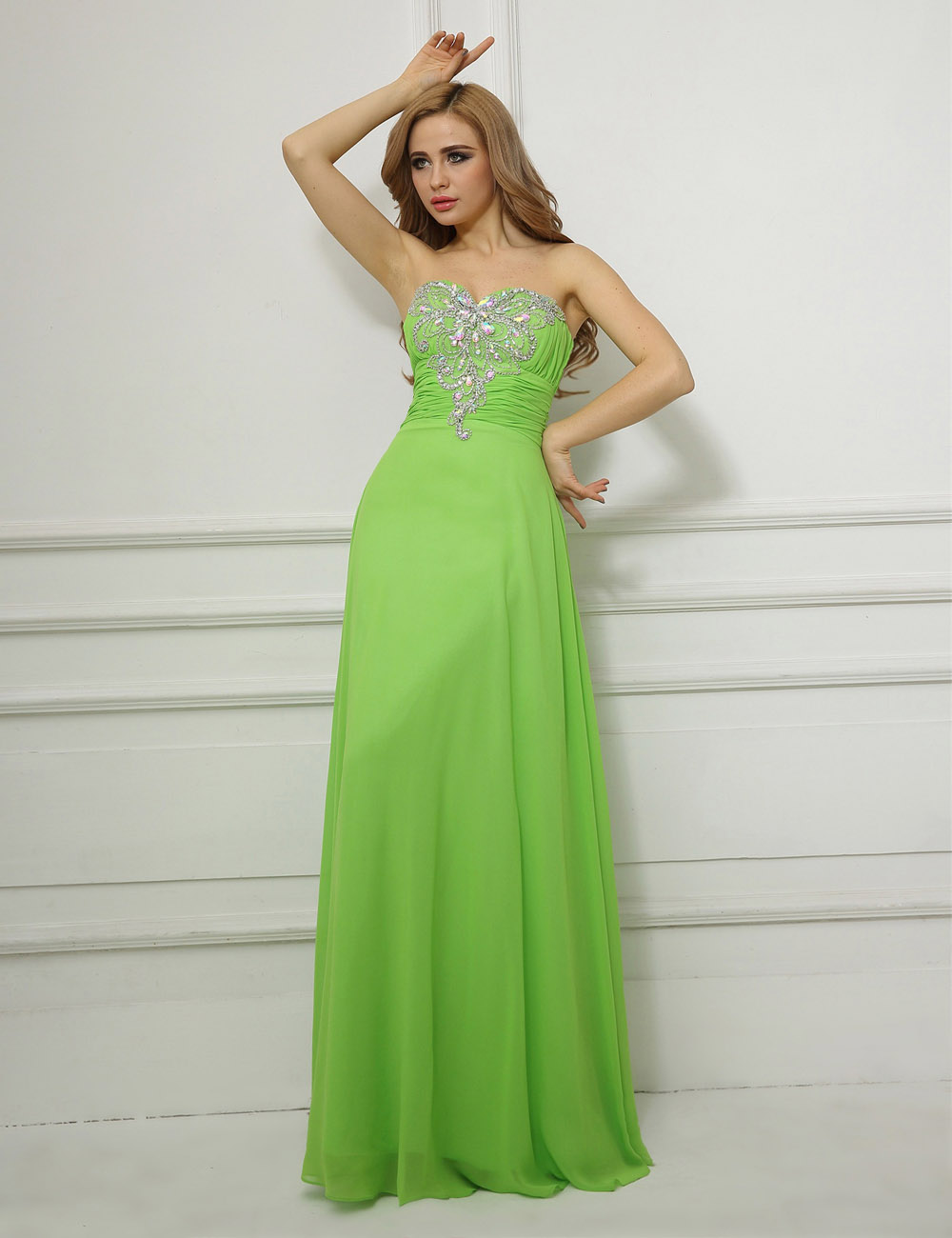 Sheath/Column High Neck Sweep/Brush Train Lace Evening Dress