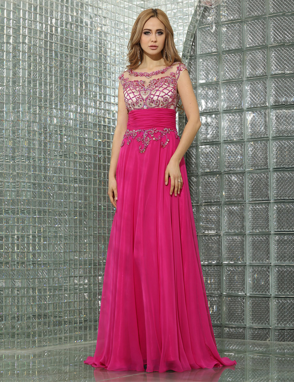 A-line One Shoulder Knee-length Chiffon Evening Dress