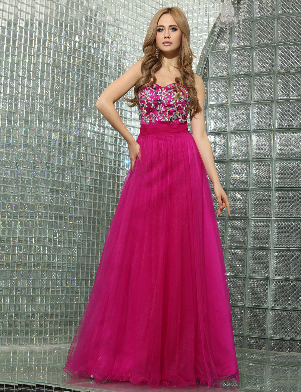 Sheath/Column Strapless Short/Mini Chiffon Prom Dress